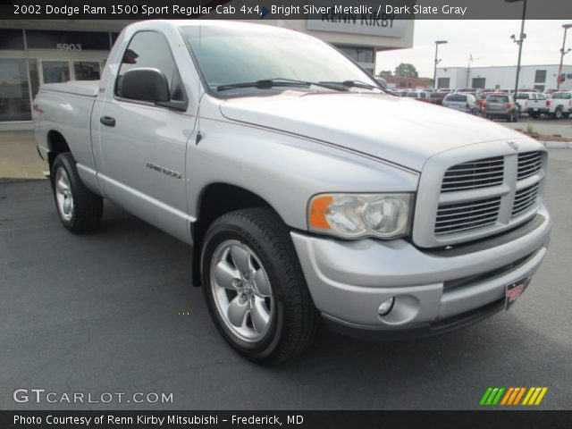 bright silver metallic 2002 dodge ram 1500 sport regular cab 4x4 dark slate gray interior. Black Bedroom Furniture Sets. Home Design Ideas