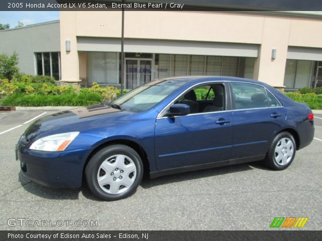 eternal blue pearl 2005 honda accord lx v6 sedan gray interior vehicle. Black Bedroom Furniture Sets. Home Design Ideas
