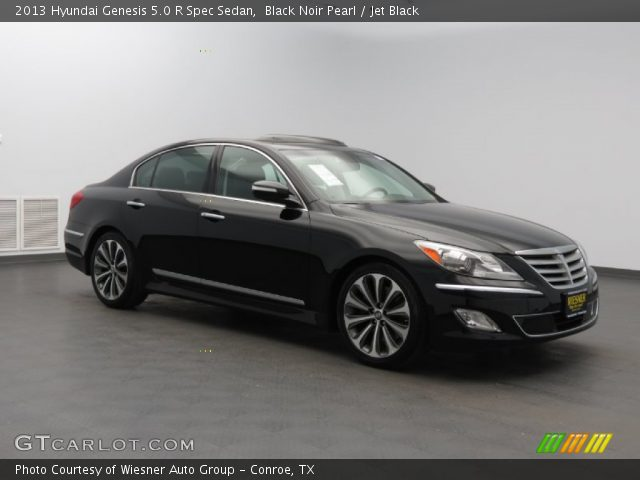 black noir pearl 2013 hyundai genesis 5 0 r spec sedan. Black Bedroom Furniture Sets. Home Design Ideas