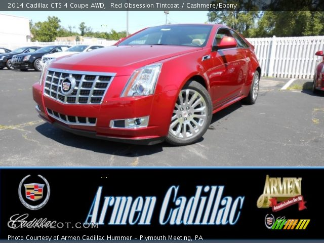 2014 Cadillac CTS 4 Coupe AWD in Red Obsession Tintcoat