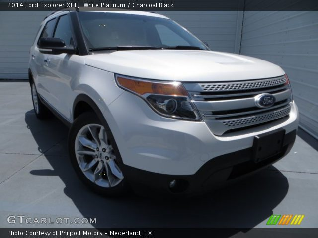 White Platinum 2014 Ford Explorer Xlt Charcoal Black Interior Vehicle
