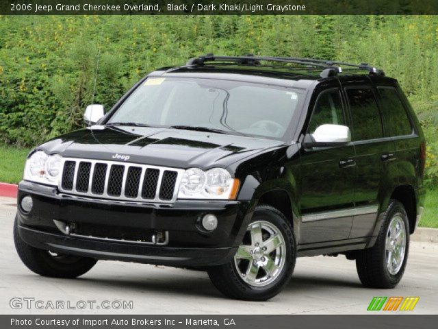black 2006 jeep grand cherokee overland dark khaki light graystone interior. Black Bedroom Furniture Sets. Home Design Ideas