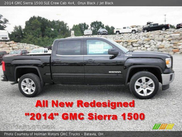 onyx black 2014 gmc sierra 1500 sle crew cab 4x4 jet black interior vehicle. Black Bedroom Furniture Sets. Home Design Ideas