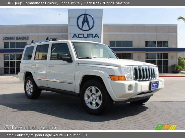 stone white 2007 jeep commander limited dark khaki. Black Bedroom Furniture Sets. Home Design Ideas