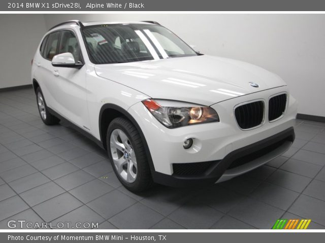 alpine white 2014 bmw x1 sdrive28i black interior vehicle archive 83991054. Black Bedroom Furniture Sets. Home Design Ideas