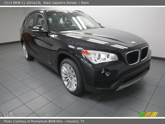 black sapphire metallic 2014 bmw x1 sdrive28i black interior vehicle. Black Bedroom Furniture Sets. Home Design Ideas