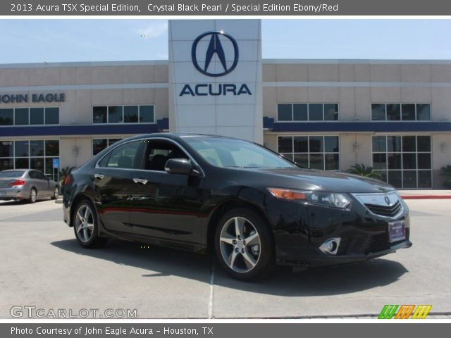 crystal black pearl 2013 acura tsx special edition special edition ebony red interior. Black Bedroom Furniture Sets. Home Design Ideas