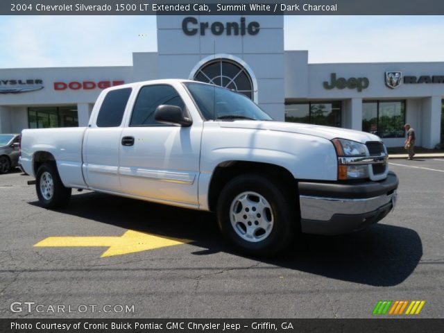 summit white 2004 chevrolet silverado 1500 lt extended cab dark charcoal interior gtcarlot. Black Bedroom Furniture Sets. Home Design Ideas