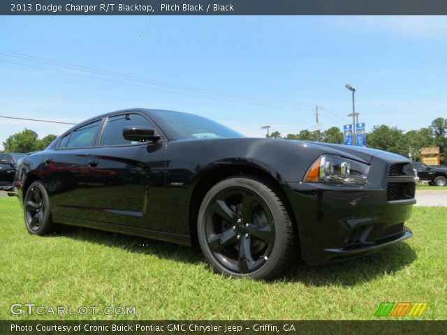 2013 Dodge Charger R/T Blacktop in Pitch Black. Click to see large