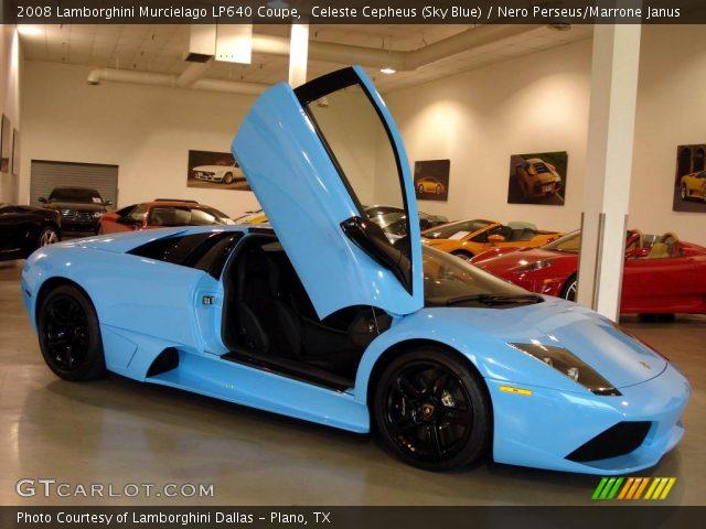 2008 Lamborghini Murcielago LP640 Coupe in Celeste Cepheus (Sky Blue)