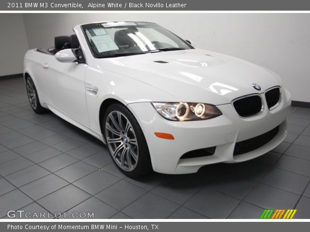 alpine white 2011 bmw m3 convertible black novillo. Black Bedroom Furniture Sets. Home Design Ideas