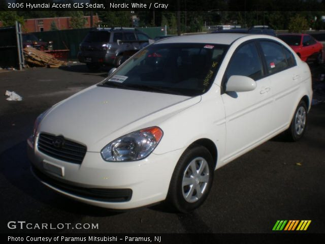 Nordic White - 2006 Hyundai Accent GLS Sedan - Gray ...