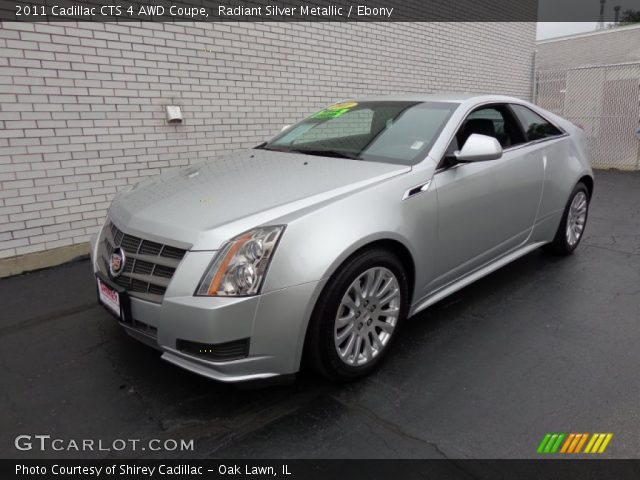 Radiant Silver Metallic 2011 Cadillac Cts 4 Awd Coupe