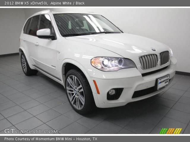 alpine white 2012 bmw x5 xdrive50i black interior vehicle archive 84042880. Black Bedroom Furniture Sets. Home Design Ideas