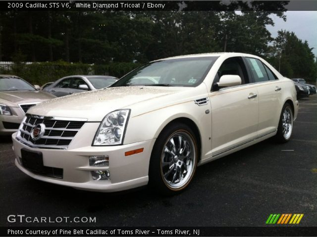2009 Cadillac STS V6 in White Diamond Tricoat