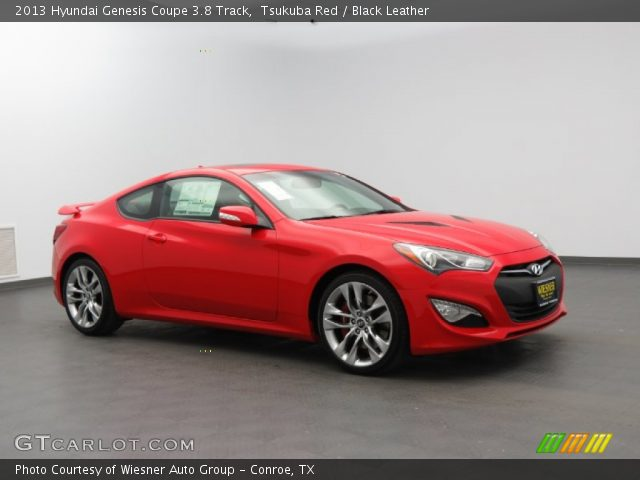 tsukuba red 2013 hyundai genesis coupe 3 8 track black leather interior. Black Bedroom Furniture Sets. Home Design Ideas