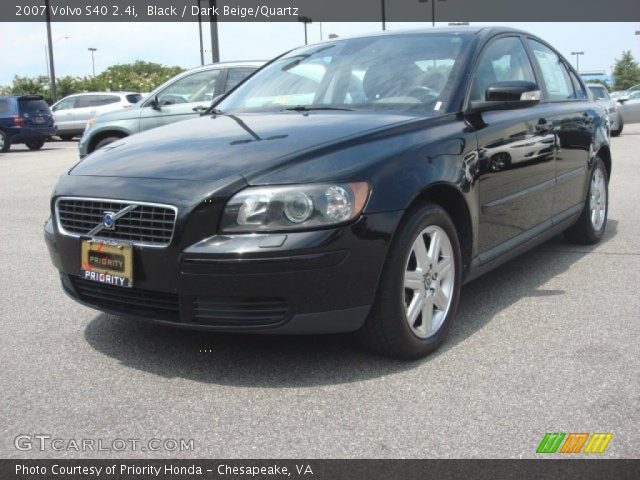 black 2007 volvo s40 dark beige quartz interior. Black Bedroom Furniture Sets. Home Design Ideas