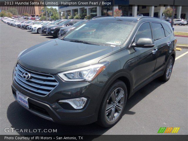 hampton green pearl 2013 hyundai santa fe limited beige interior vehicle. Black Bedroom Furniture Sets. Home Design Ideas