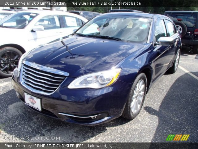 true blue pearl 2013 chrysler 200 limited sedan black. Black Bedroom Furniture Sets. Home Design Ideas
