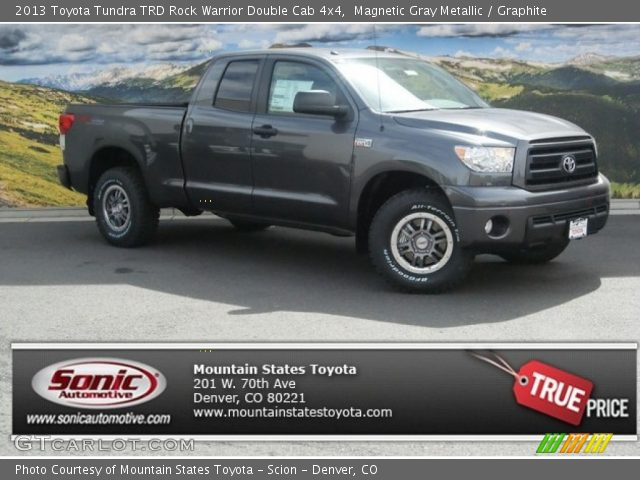 magnetic gray metallic 2013 toyota tundra trd rock warrior double cab 4x4 graphite interior. Black Bedroom Furniture Sets. Home Design Ideas