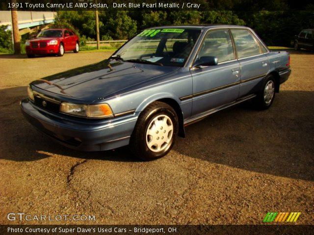 dark blue pearl metallic 1991 toyota camry le awd sedan gray interior g. Black Bedroom Furniture Sets. Home Design Ideas