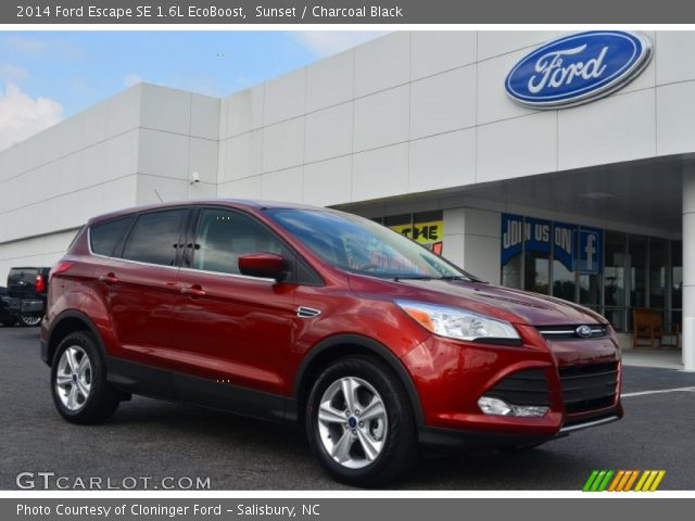 sunset 2014 ford escape se 1 6l ecoboost charcoal. Black Bedroom Furniture Sets. Home Design Ideas