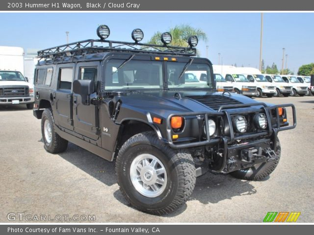 2003 Hummer H1 Wagon in Black