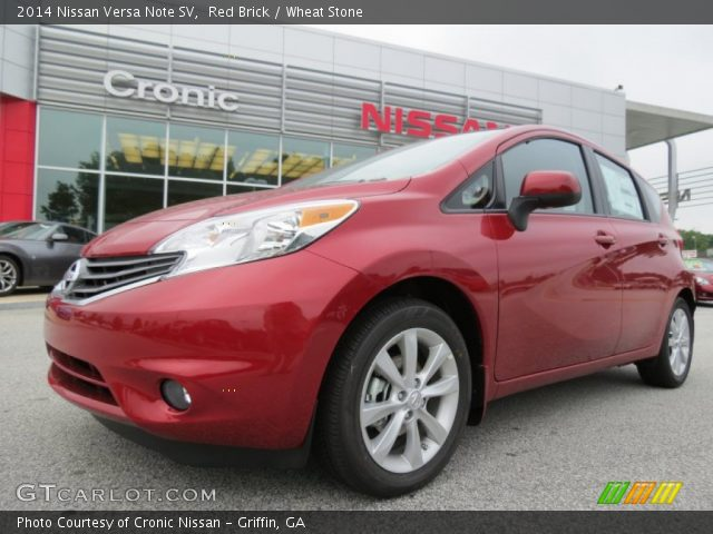 2014 Nissan Versa Note SV in Red Brick  Click to see large photo Nissan Versa Note Red