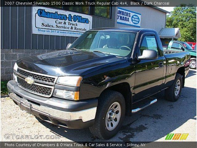 2007 Chevrolet Silverado 1500 Classic Work Truck Regular Cab 4x4 in Black