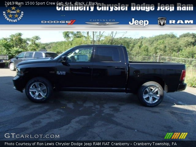 2013 Ram 1500 Sport Crew Cab 4x4 in Black
