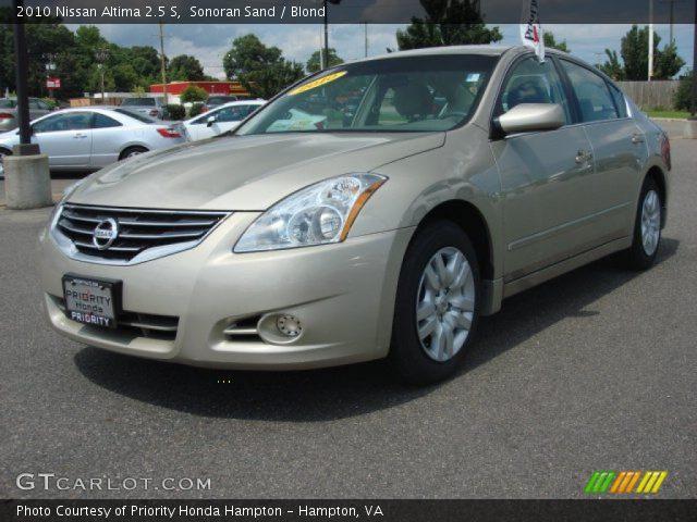 Sonoran Sand 2010 Nissan Altima 2 5 S Blond Interior Vehicle Archive 84257309
