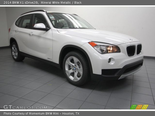 mineral white metallic 2014 bmw x1 sdrive28i black interior vehicle archive. Black Bedroom Furniture Sets. Home Design Ideas