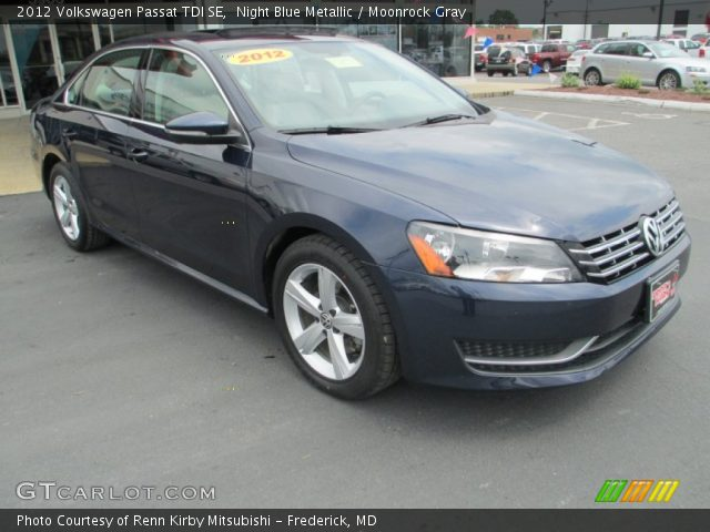 night blue metallic 2012 volkswagen passat tdi se moonrock gray interior. Black Bedroom Furniture Sets. Home Design Ideas