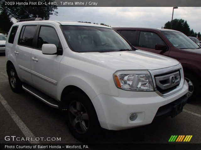 Taffeta White 2009 Honda Pilot Ex L 4wd Gray Interior Vehicle Archive 84312793