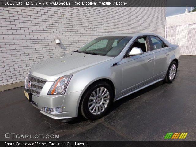 Radiant Silver Metallic 2011 Cadillac Cts 4 3 0 Awd