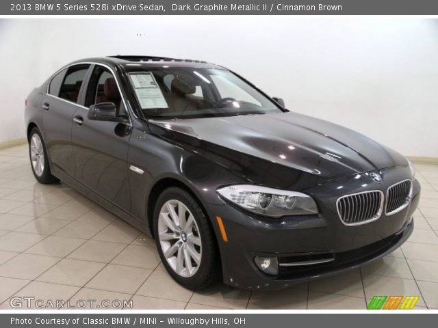 dark graphite metallic ii 2013 bmw 5 series 528i xdrive sedan cinnamon brown interior. Black Bedroom Furniture Sets. Home Design Ideas