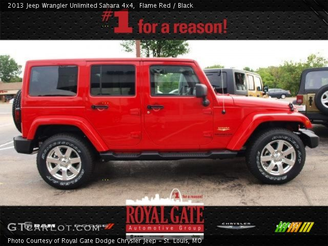 Flame red 2013 jeep wrangler unlimited sahara 4x4 - Jeep wrangler red interior for sale ...