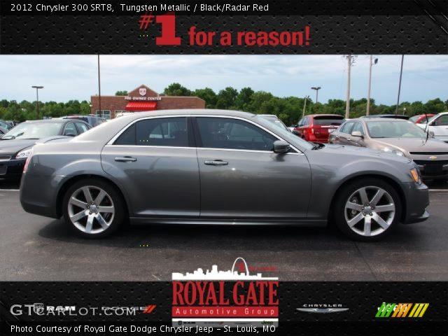 Tungsten Metallic 2012 Chrysler 300 Srt8 Black Radar Red Interior Vehicle