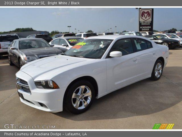 bright white 2013 dodge charger se black interior vehicle archive 84357852. Black Bedroom Furniture Sets. Home Design Ideas