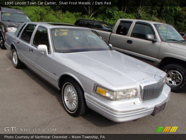 1996 Lincoln Town Car Cartier in Silver Frost Metallic