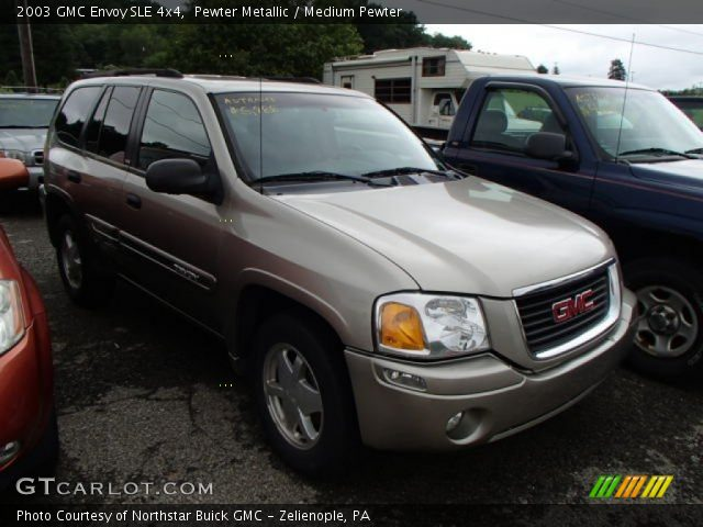 pewter metallic 2003 gmc envoy sle 4x4 medium pewter. Black Bedroom Furniture Sets. Home Design Ideas