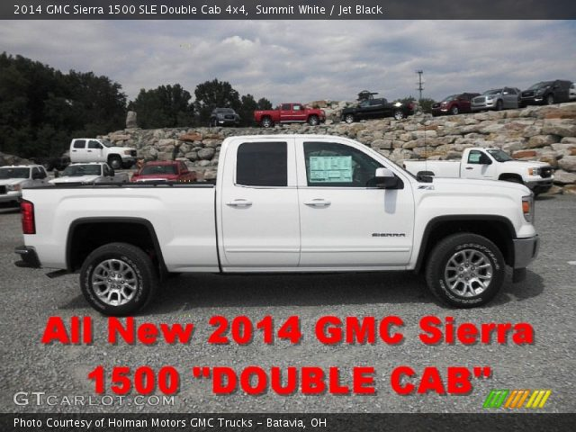 summit white 2014 gmc sierra 1500 sle double cab 4x4 jet black interior. Black Bedroom Furniture Sets. Home Design Ideas