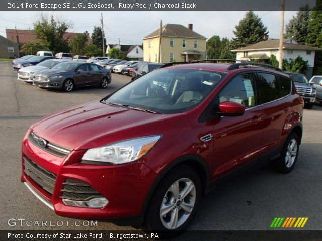 ruby red 2014 ford escape se 1 6l ecoboost charcoal black interior vehicle. Black Bedroom Furniture Sets. Home Design Ideas