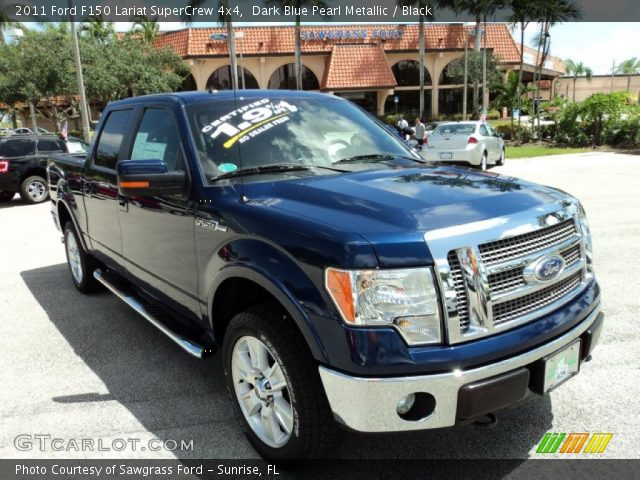 2011 Ford F150 Lariat SuperCrew 4x4 in Dark Blue Pearl Metallic