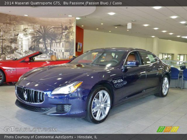 2014 Maserati Quattroporte GTS in Blu Passione (Passion Blue)