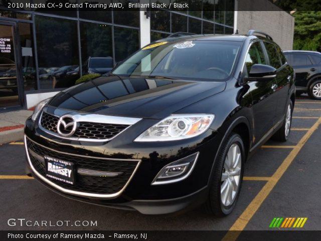 Brilliant Black 2010 Mazda Cx 9 Grand Touring Awd Black Interior Vehicle