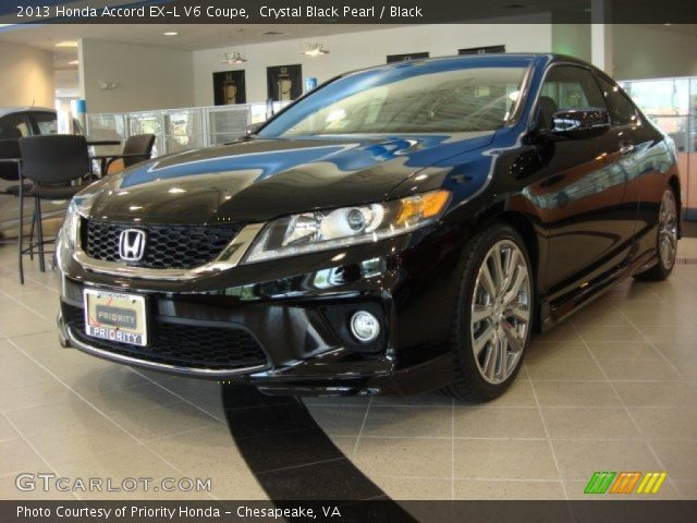 crystal black pearl 2013 honda accord ex l v6 coupe black interior vehicle. Black Bedroom Furniture Sets. Home Design Ideas