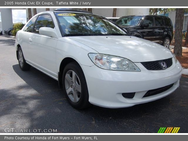 taffeta white 2005 honda civic ex coupe ivory interior. Black Bedroom Furniture Sets. Home Design Ideas
