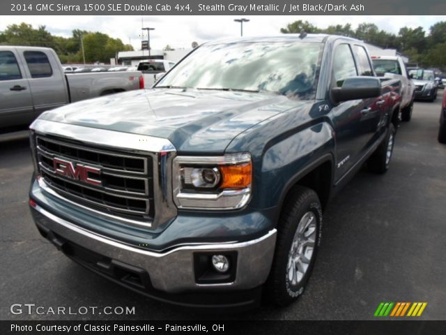 2014 GMC Sierra 1500 SLE Double Cab 4x4 in Stealth Gray Metallic