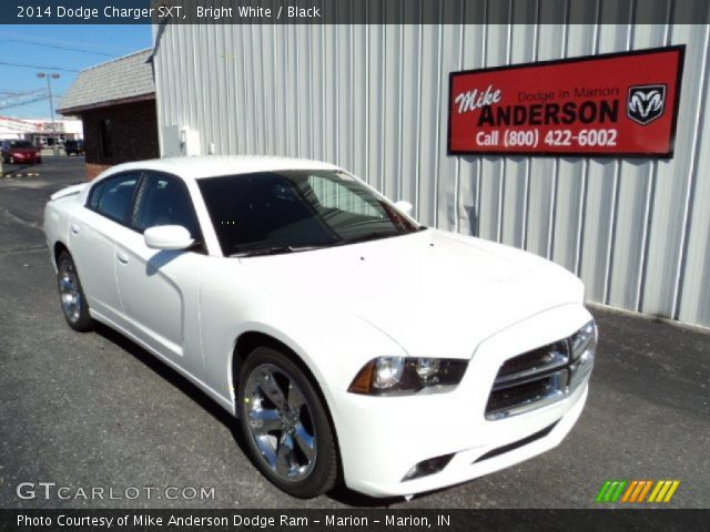 bright white 2014 dodge charger sxt black interior vehicle archive 84565855. Black Bedroom Furniture Sets. Home Design Ideas